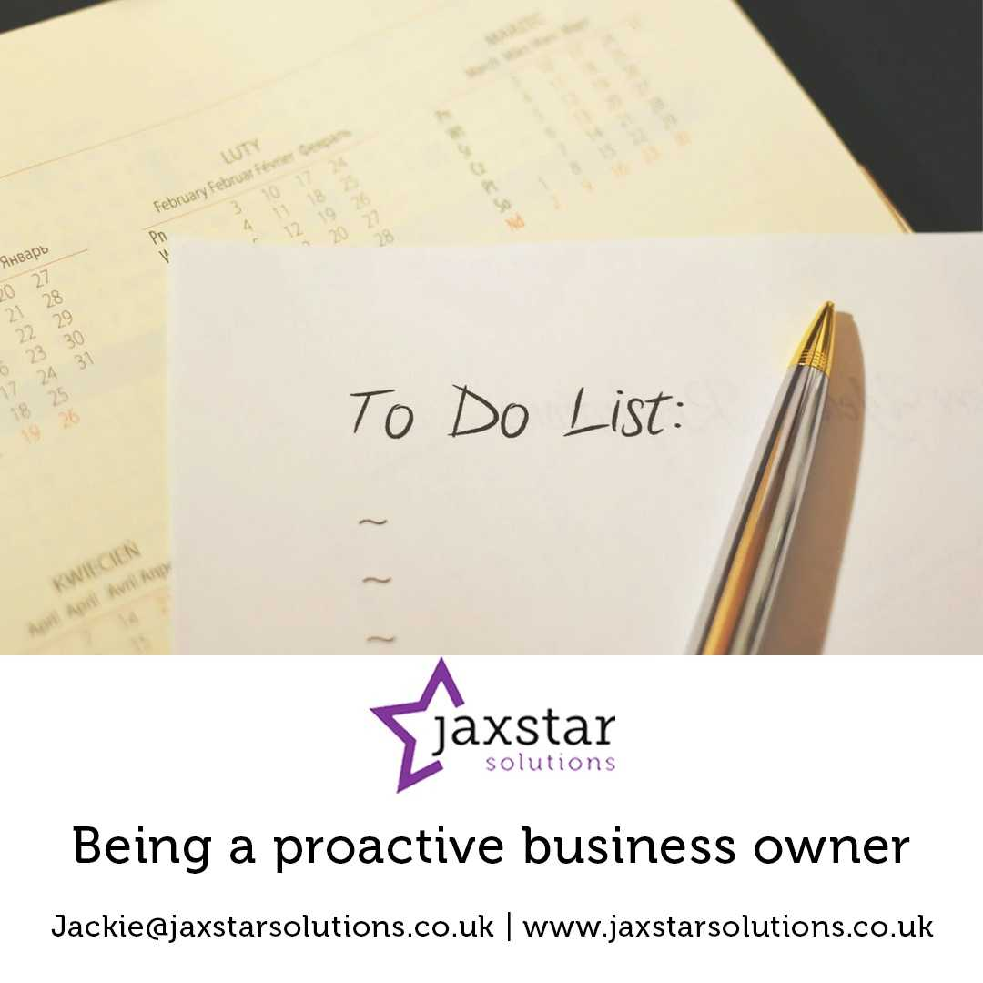 Being a proactive business owner | Jaxstar Solutions