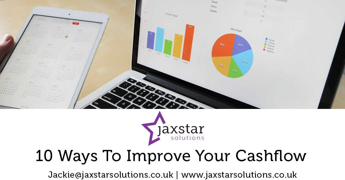 10 ways to improve your cashflow | Jaxstar Solutions