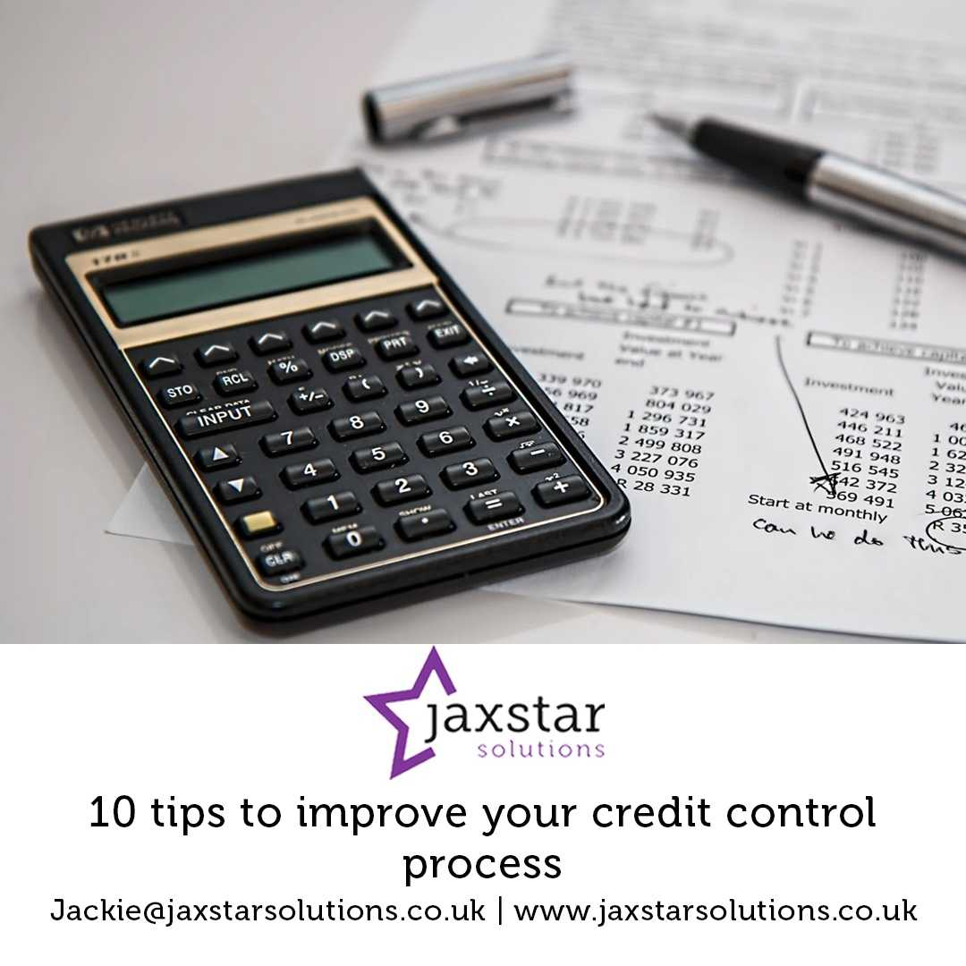 10 Tips to improve your Credit Control process | Jaxstar Solutions