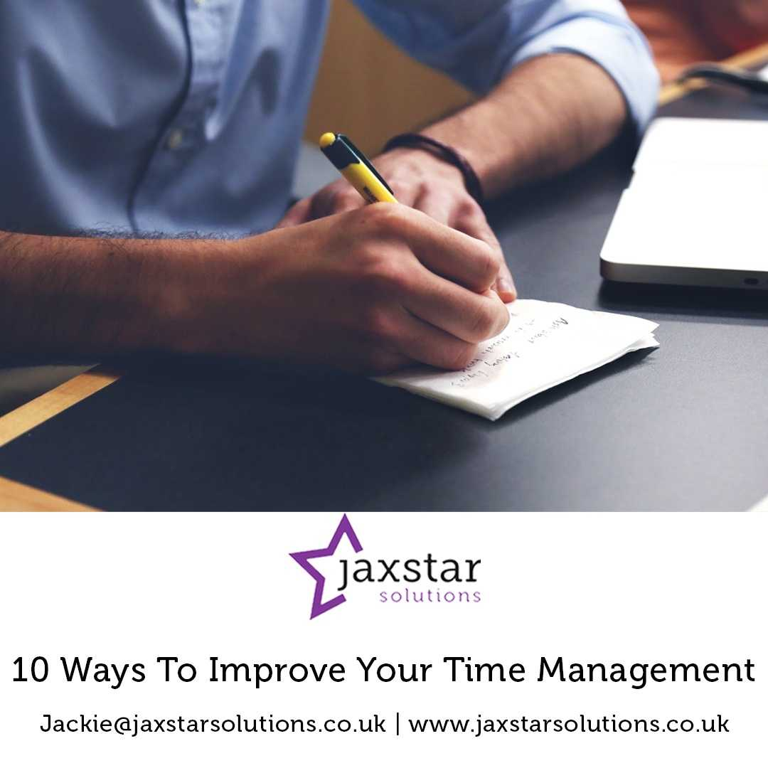 10 ways to improve your Time Management | Jaxstar Solutions