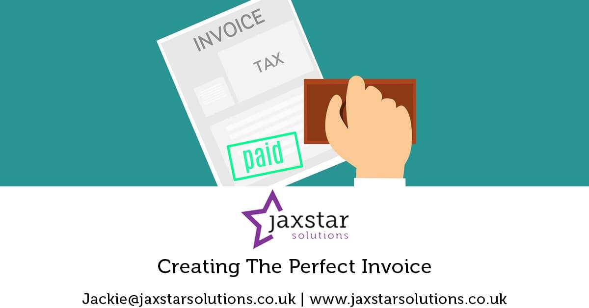 Creating the Perfect Invoice   Jaxstar Solutions